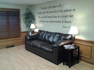 Advanced Chiropractic Patient Lounge Area