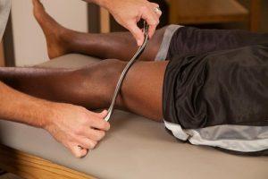 Graston Technique on Thigh - Graston Provider Boardman Ohio Chiropractic Office